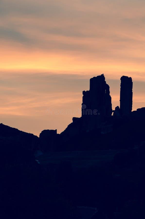 Corfe slott royaltyfri foto