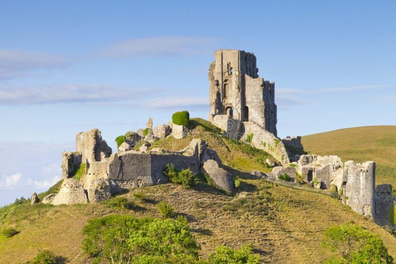 Corfe slott Dorset England arkivbilder