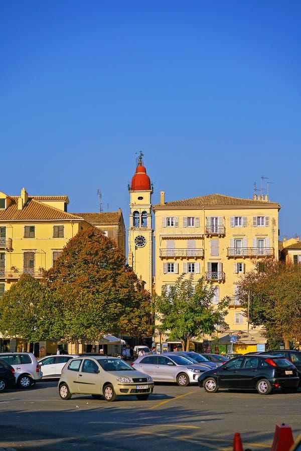 Corfou, Grèce, le 18 octobre 2018, vue du centre de la ville avec ses bâtiments photos stock