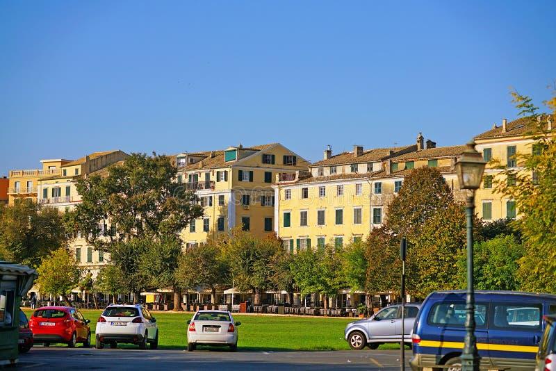Corfou, Grèce, le 18 octobre 2018, vue du centre de la ville avec ses bâtiments images libres de droits