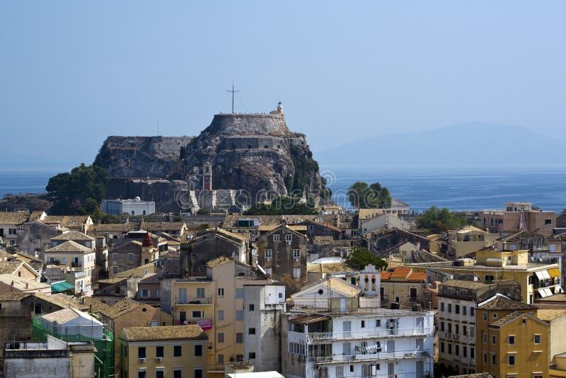 corfu堡垒老希腊kerkyra 库存照片