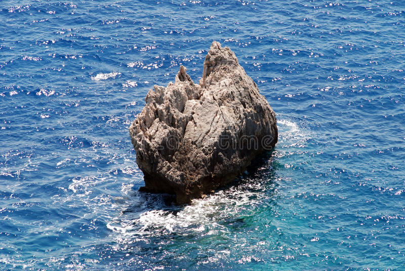 Corfu希腊爱奥尼亚人海岛海运 库存图片