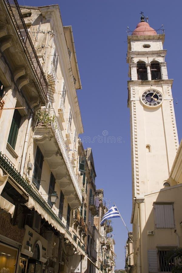 Download Corfu Греция стоковое изображение. изображение насчитывающей часы - 479605