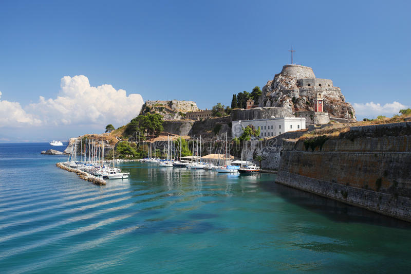 Corfu em Greece imagem de stock royalty free
