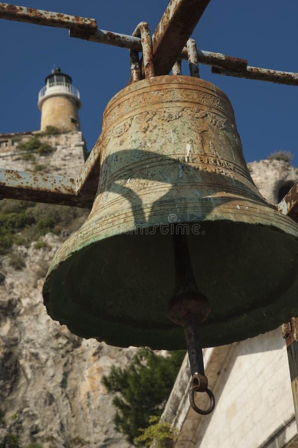 CORFU/GREECE Bell in der alten Festung stockfoto