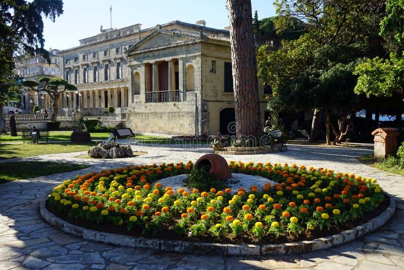 Agion Michail ke Antoniou Palace. CORFU, GREECE - CIRCA MAY 2019 Agion Michail ke Antoniou Palace stock images