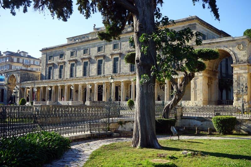 Agion Michail ke Antoniou Palace. CORFU, GREECE - CIRCA MAY 2019 Agion Michail ke Antoniou Palace royalty free stock image