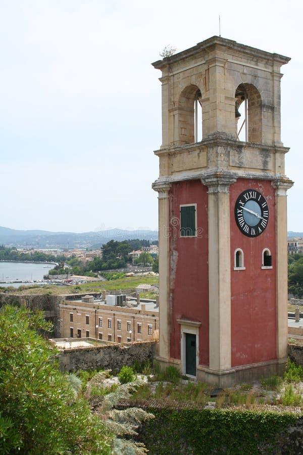 corfu greece torntown fotografering för bildbyråer