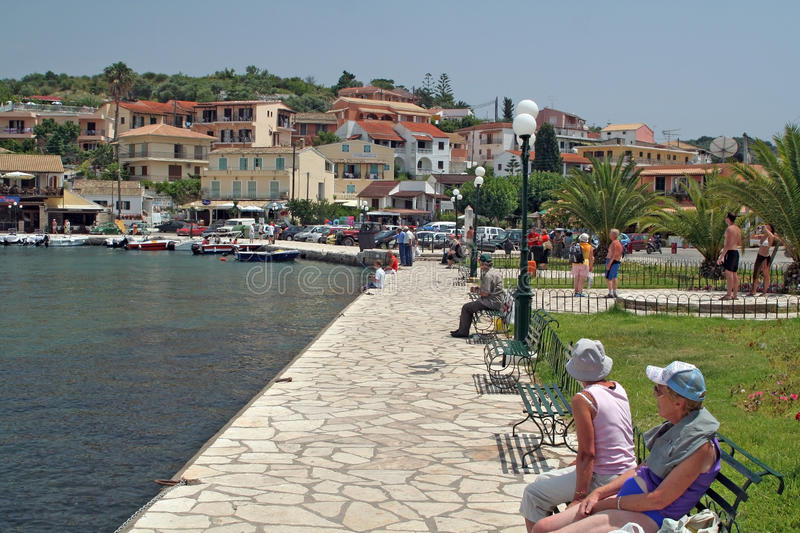 Download Corfu harbour in Kassiopi editorial photography. Image of kerkyra - 34544367