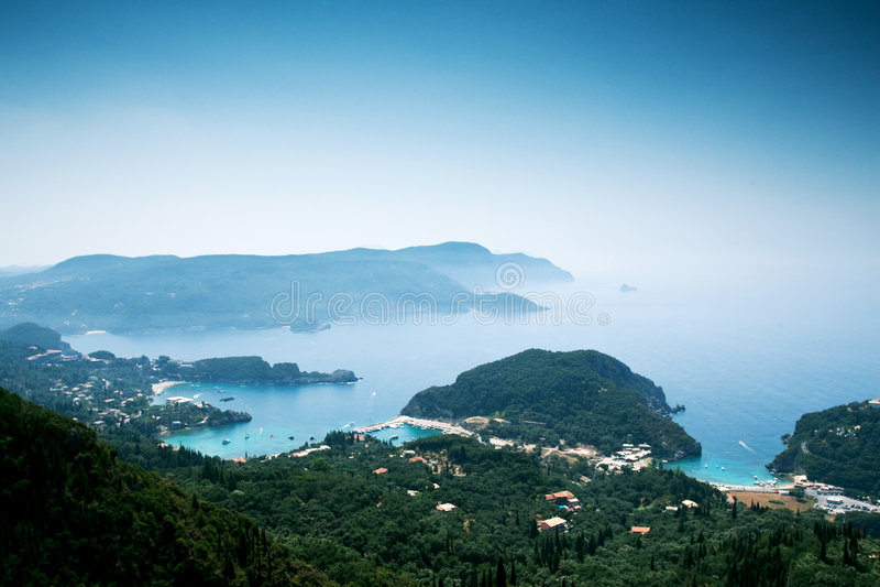 corfu kust royaltyfria bilder