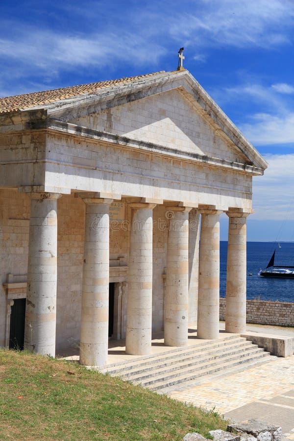 Corfu miasteczko zdjęcia royalty free