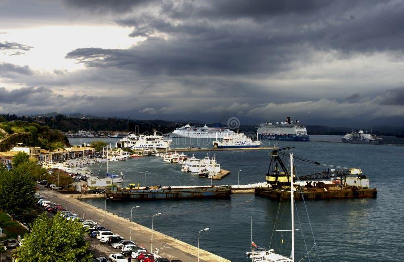 Corfu Port royalty free stock photography