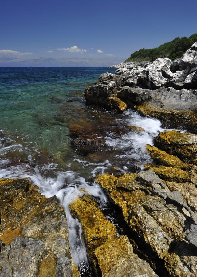 Download Corfu shoreline stock image. Image of greek, corfu, holidays - 32230611