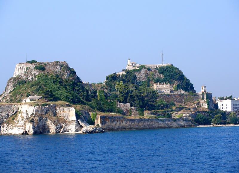 Corfu stad arkivfoton