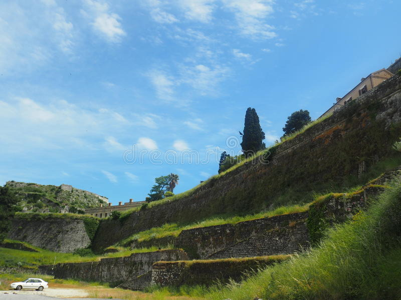 Corfu, stary forteca fotografia royalty free
