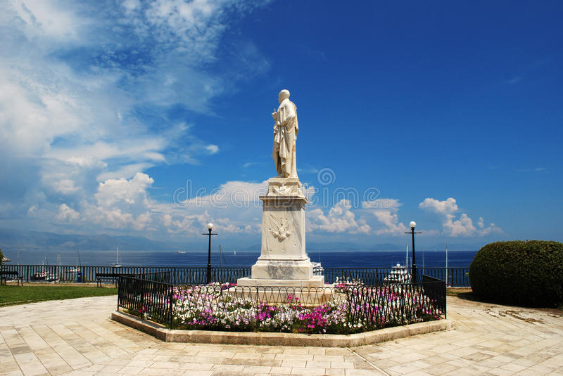 Corfu town monument royalty free stock photography