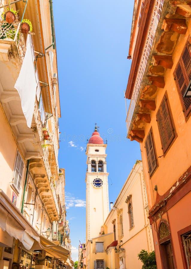 Corfu wyspy Greece st Spiridonas cental kościół w mieście Corfu obrazy stock