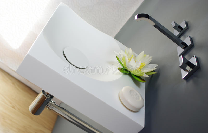 Download Corian Sink Stock Image. Image Of Wall, Standing, Basin   31337799