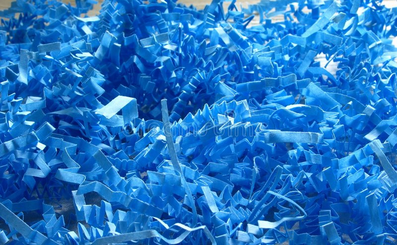 Download Coriandoli blu fotografia stock. Immagine di regali, colpo - 212404