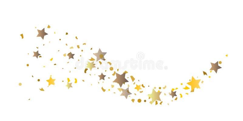 Coriandoli di scintillio di NGolden delle stelle illustrazione vettoriale