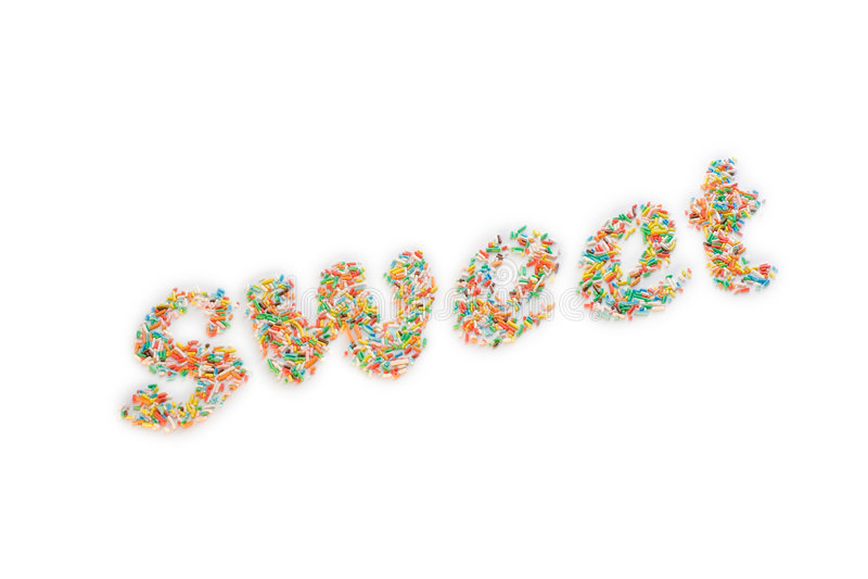 Coriandoli dolci immagini stock