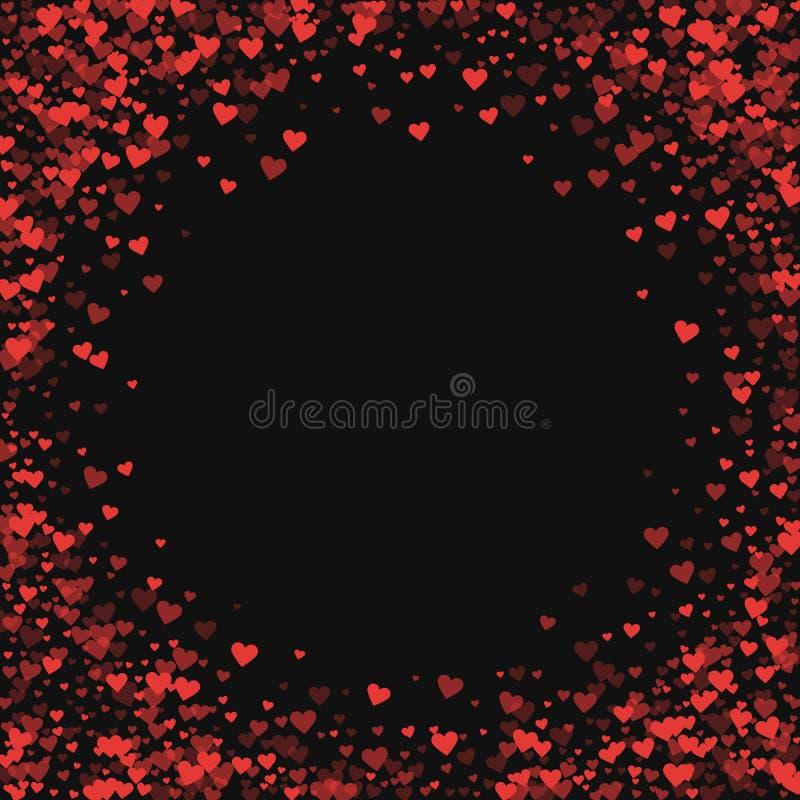 Coriandoli rossi dei cuori illustrazione vettoriale