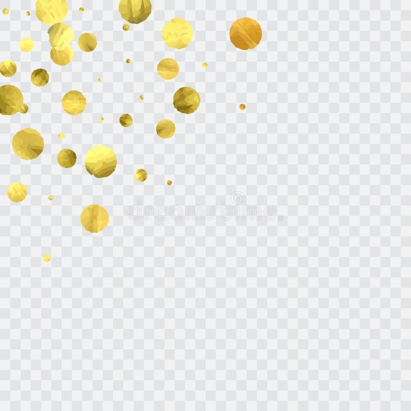 Coriandoli rotondi dell'oro illustrazione di stock