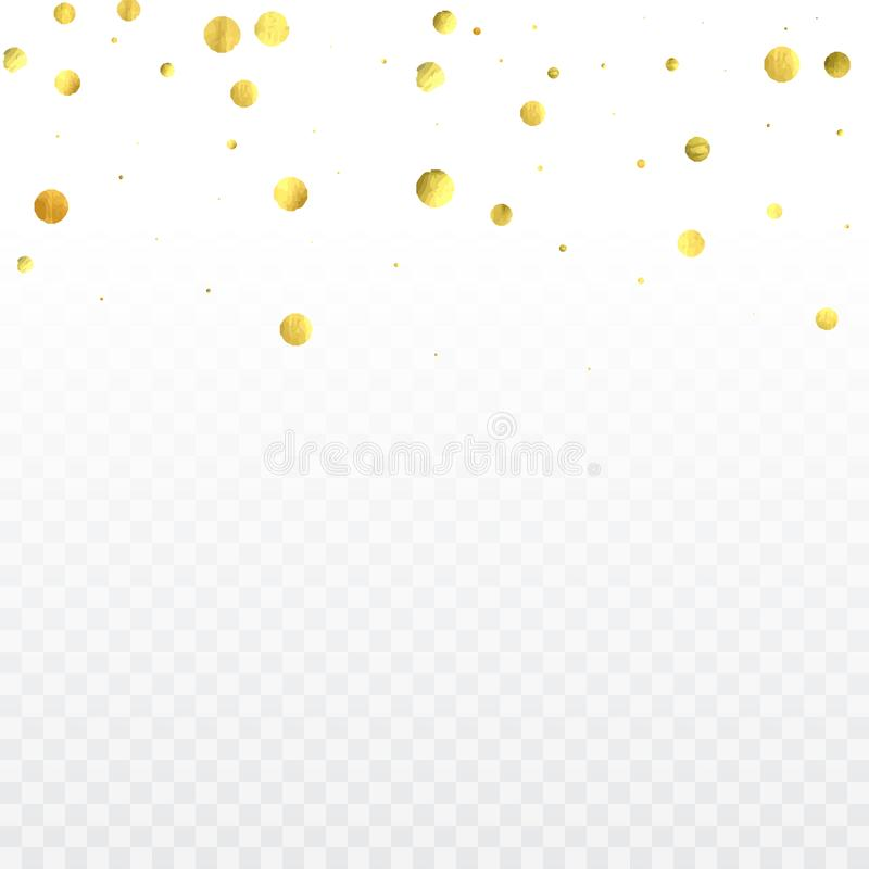 Coriandoli rotondi dell'oro illustrazione vettoriale