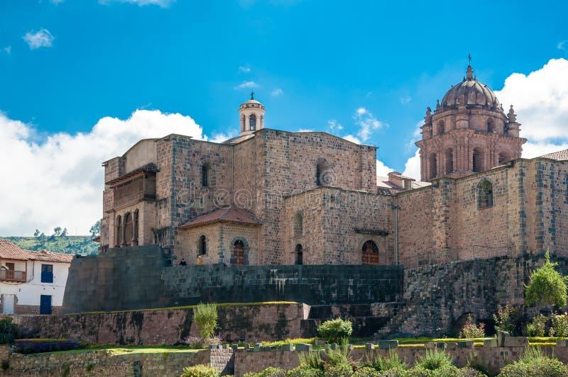 Coricancha der alte Inka Temple of Sun lizenzfreie stockfotos