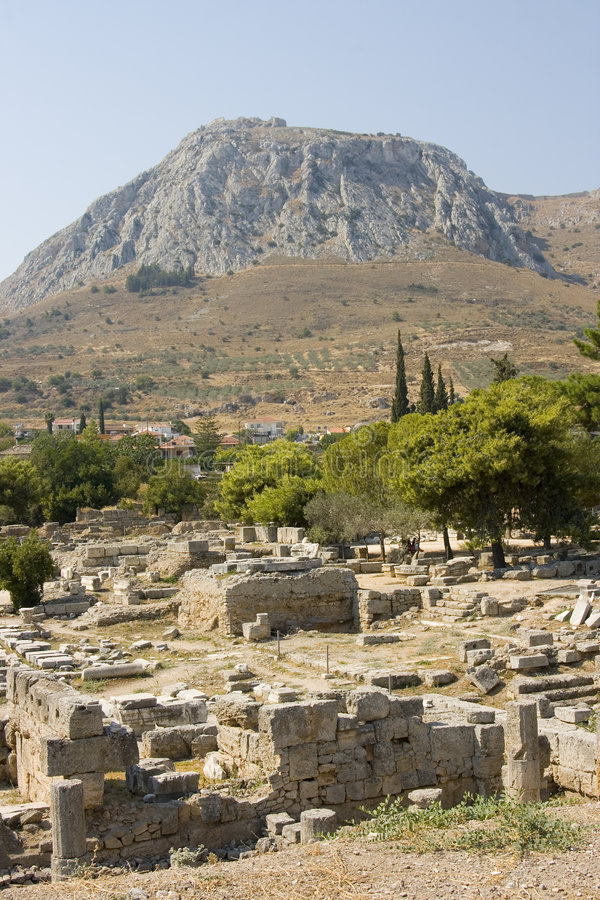 Download Corinth ancient ruins stock image. Image of history, culture - 6221369