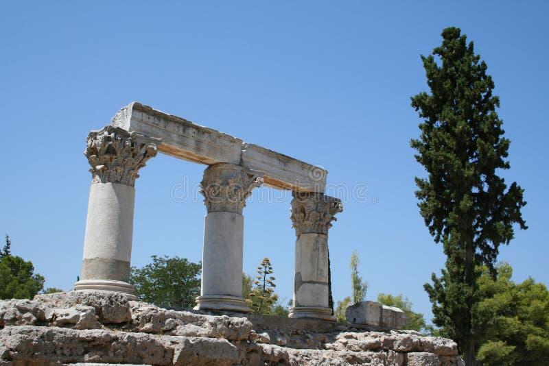 Corinth antigo imagens de stock