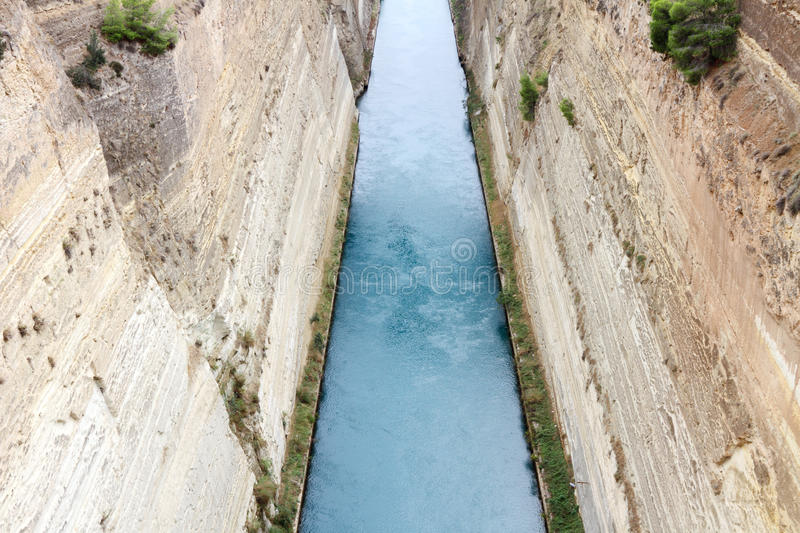 Download Corinth channel, Greece. stock photo. Image of oversized - 16902782