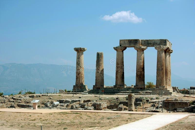 Corinth en Grecia fotografía de archivo