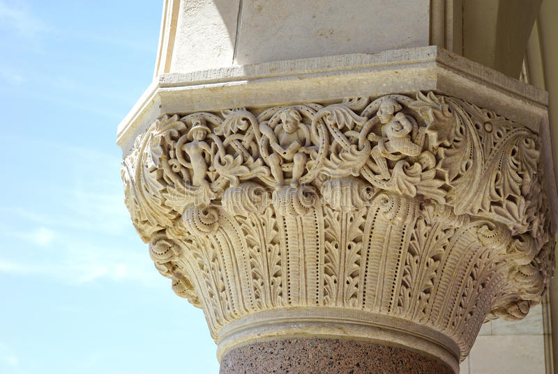 Corinthian column details stock photography