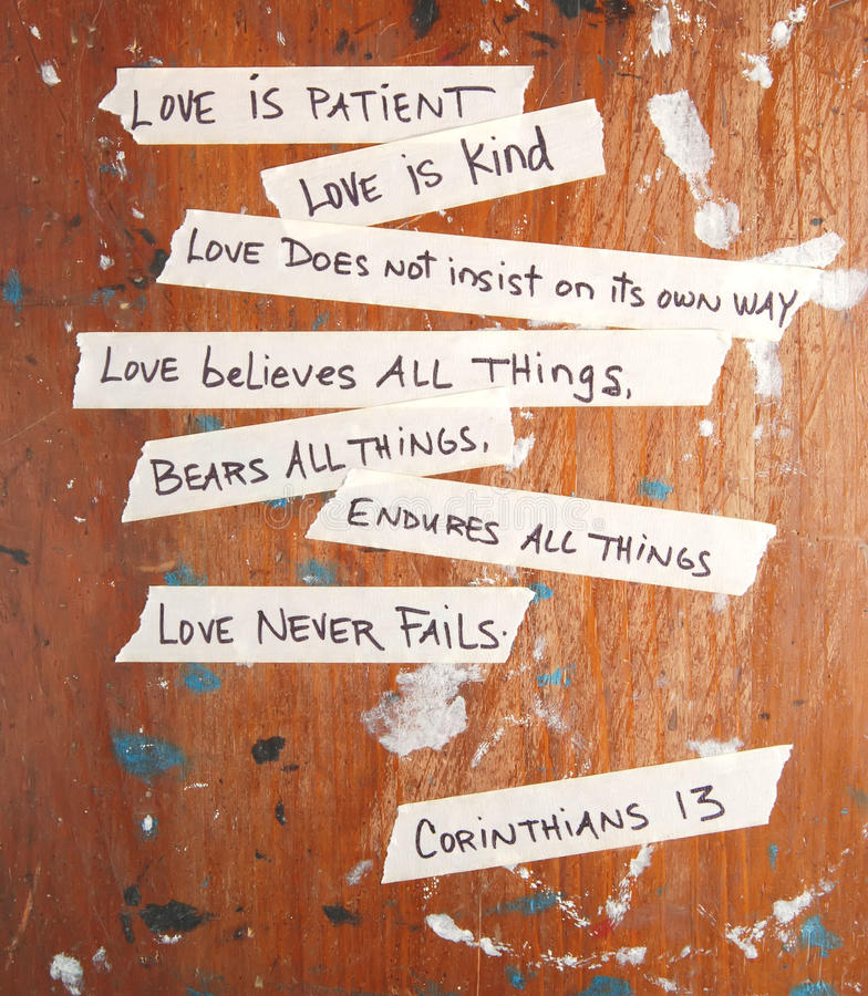 Corinthians 13 royalty free stock images