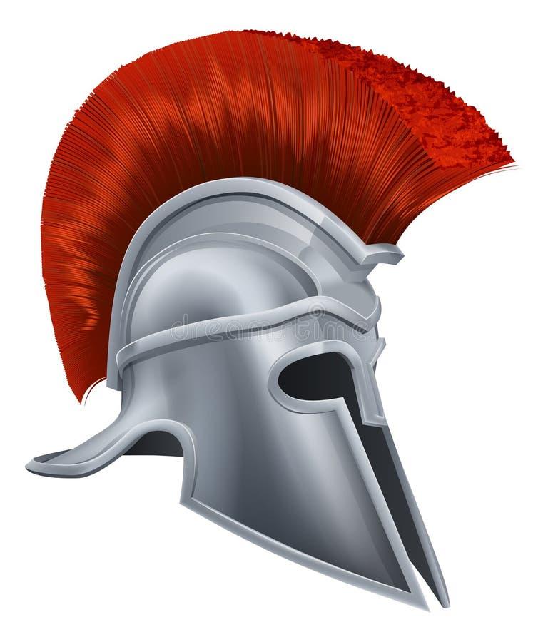 Corinthische helm stock illustratie