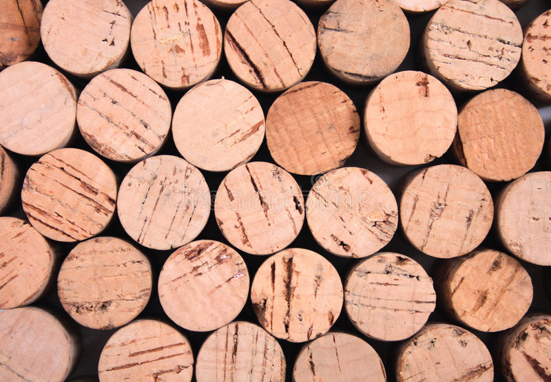 Cork background. Very nice cork background from the cpas from wine bottles royalty free stock photo
