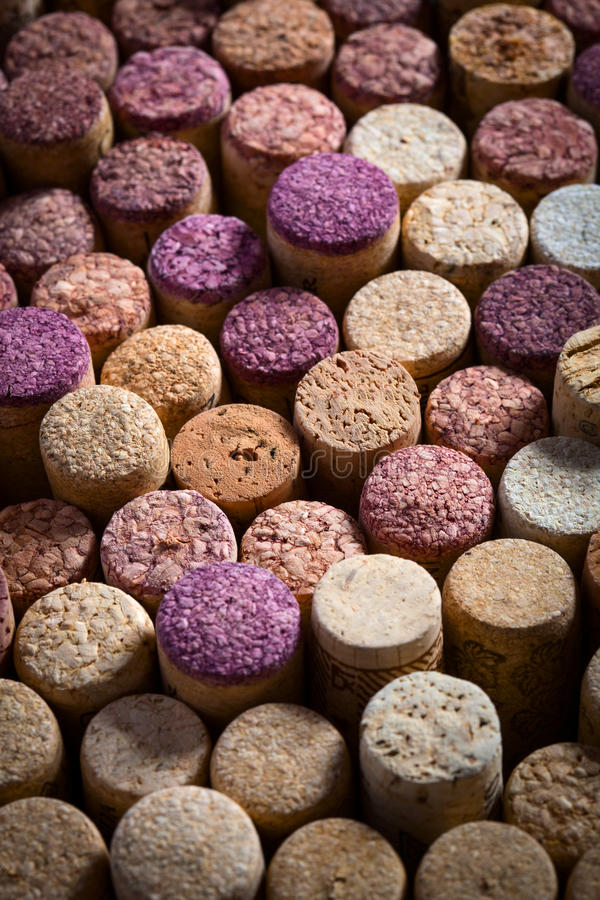 Cork background. Close up view of wine cork background stock photo
