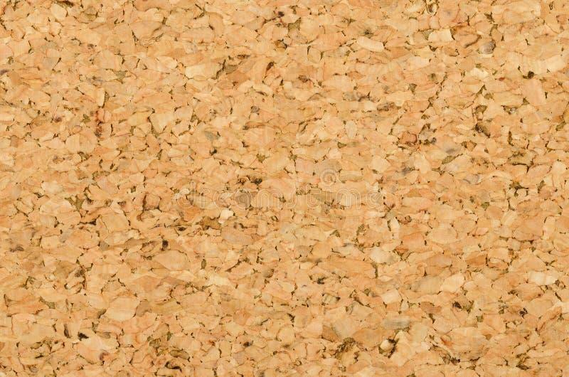 Cork bladoppervlakte met fijne textuur, macrofoto royalty-vrije stock afbeelding