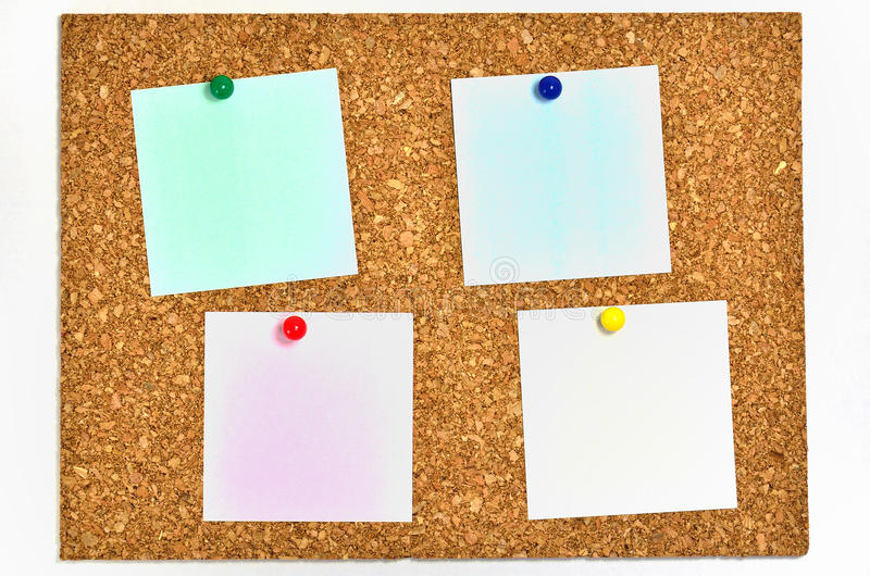 Download Cork Board And Blank Notes. Stock Photo - Image: 24044658