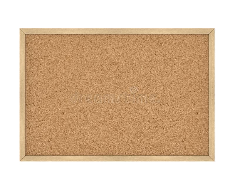 Cork Board Isolated vuoto illustrazione vettoriale