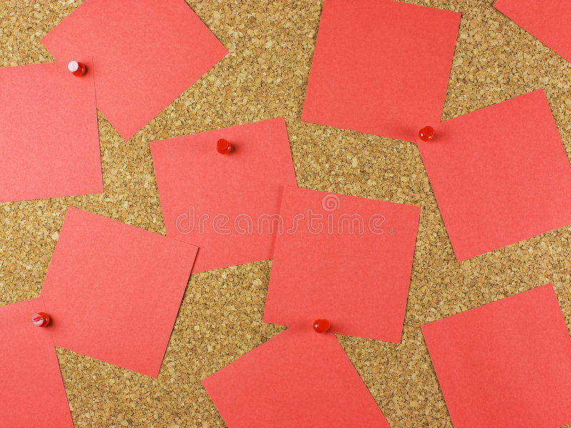 Cork Board and Notes stock photo