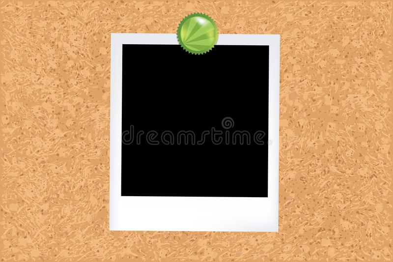 Cork Board With Photo Royalty Free Stock Photos