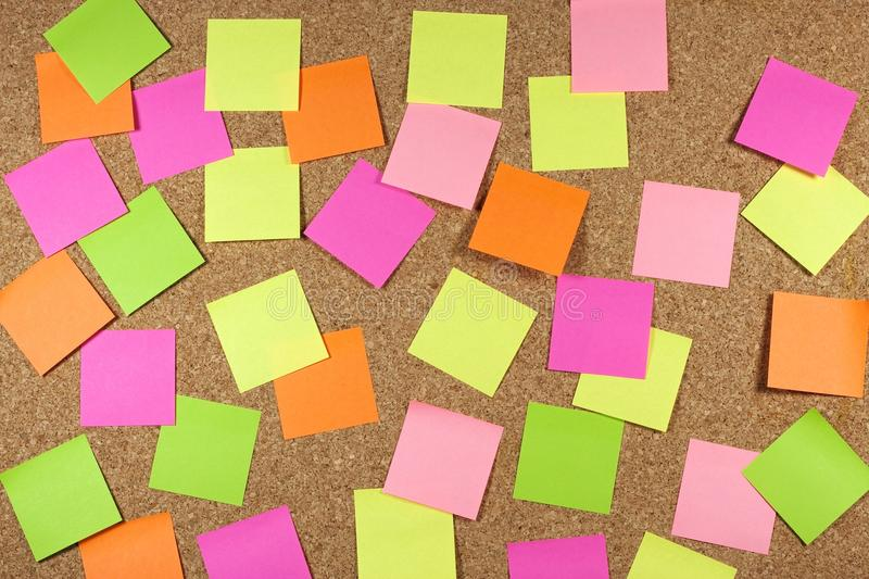 Cork Board With Sticky Note Stock Images