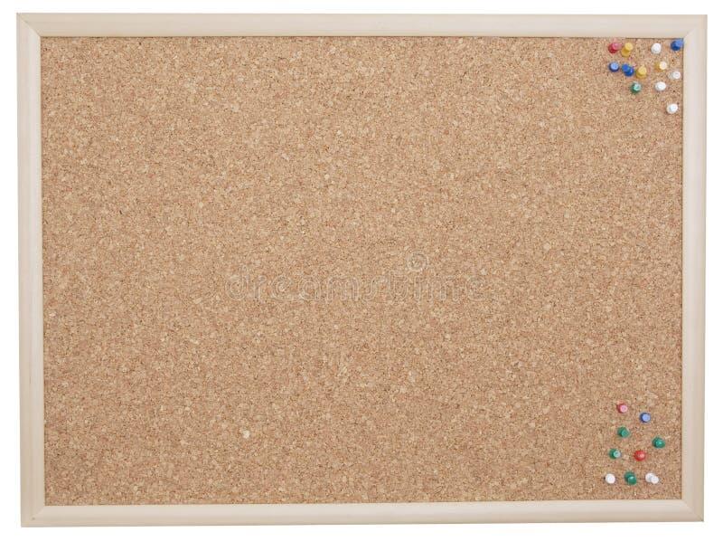 Cork board with tacks royalty free stock image