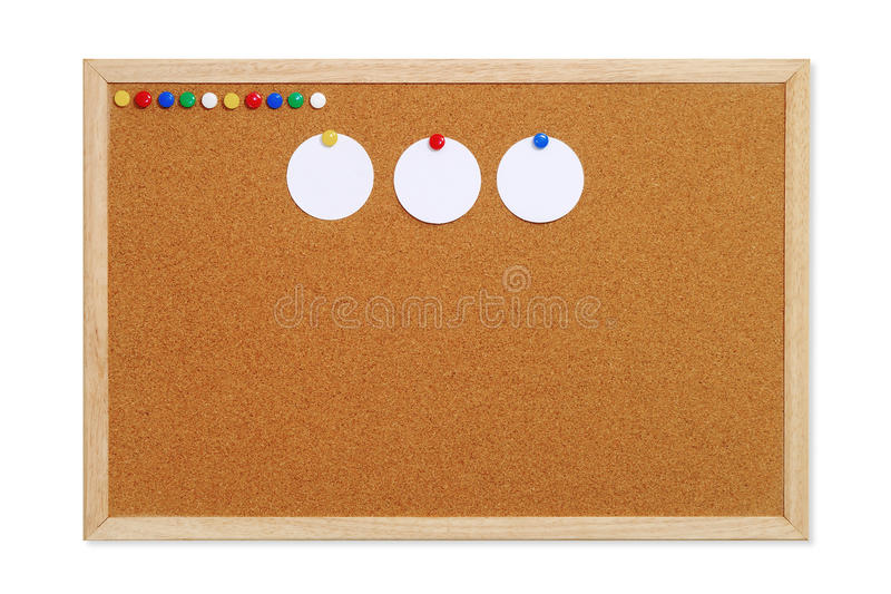 Download Cork Board With Tacks And Notes Stock Photo - Image: 20014626