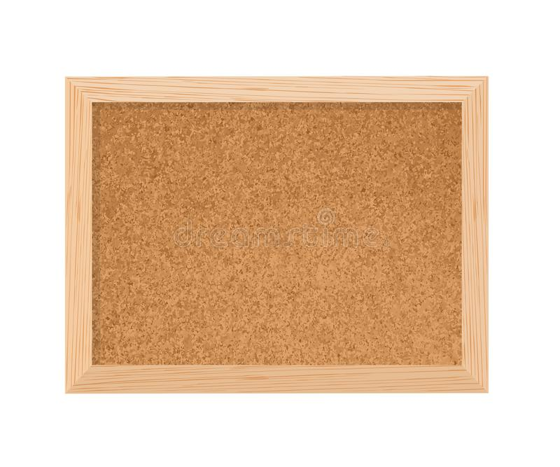 Cork board wood texture isolated on white background stock photos