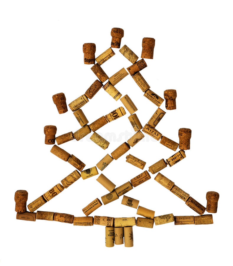 Free Cork Christmas Tree Royalty Free Stock Images - 50265539