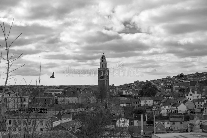 Cork City (Schwarzes u. Weiß) stockbilder