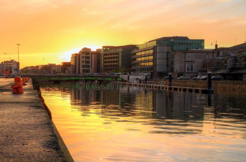 Cork city at sunset. HDR - Ireland stock photos